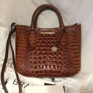 Brahmin Small Lena Pecan Melbourne Leather Bag